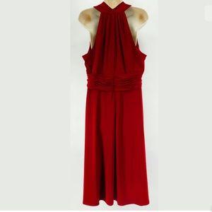 Jones Wear Dresses - 16 XL 1X▪️RED RUCHED WAIST MIDI DRESS Plus Size